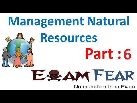 Biology Management of Natural resources part 6 (Coal & petro