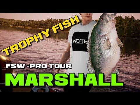 Fishing Sim World Pro Tour Named Trophy Catch Marshall 17lb 7oz Bass