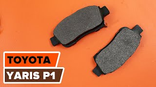 front and rear Disk pads change on TOYOTA YARIS (SCP1_, NLP1_, NCP1_) - video instructions