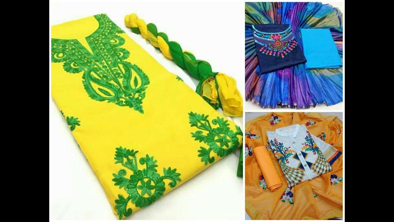 Amazing Embroidery Work Churidar Designs Stylish Churidar With