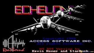 Echelon gameplay (PC Game, 1987)