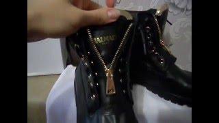 видео Ботинки Balmain