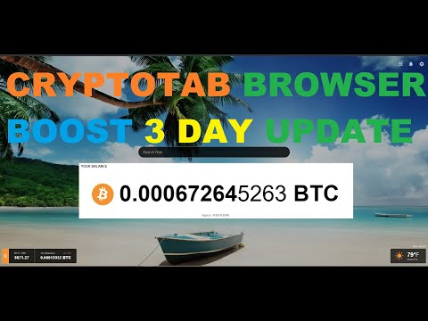 CryptoTab Browser - 3rd Day Boost Update