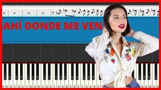 Ángela Aguilar - Ahí Donde Me Ven | Piano Tutorial | Midi