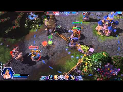 Heroes of the Storm Alpha Sgt Hammer Gameplay