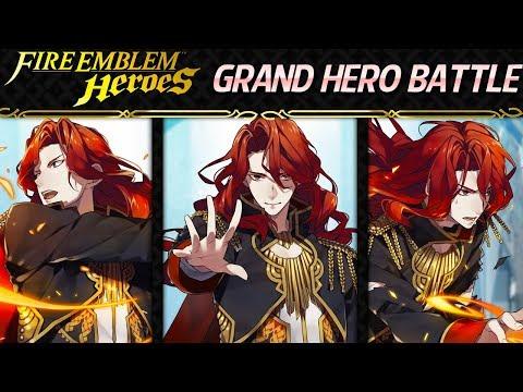 Fire Emblem Heroes - Grand Hero Battle: Arvis [Infernal+Lunatic] w/ F2P Units+Nino