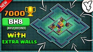 MOST INSANE BH8 BASE WITH EXTRA WALLS | 2018 NEW UPDATE | BEST BUILDER HALL 8 w/160 WALLS TESTED✔