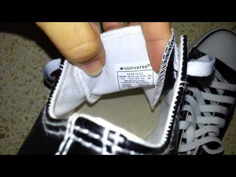 astronauta Controversia Y  converse all star pu leather made in china - YouTube