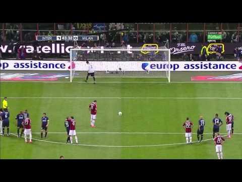 Zlatan Ibrahimović Penalty Goal vs Júlio César   Inter vs Milan (1-1)