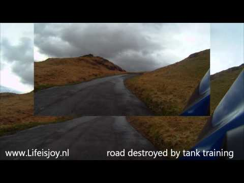 Hardknott pass steepest road in England UK Europe riding motorbike in Lake District