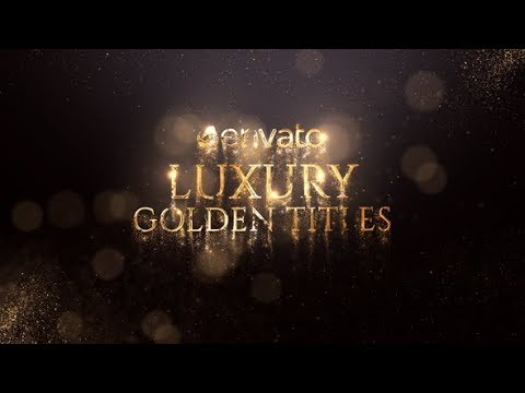 After Effects Template: Luxury Golden Titles