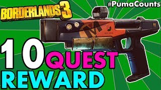 10 BEST SIDE QUEST REWARD GUNS AND WEAPONS in Borderlands 3 (Side Missions Worth Doing) #PumaCounts