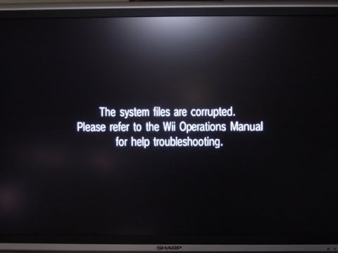 Unable to read the disc check the wii operations manual for help.