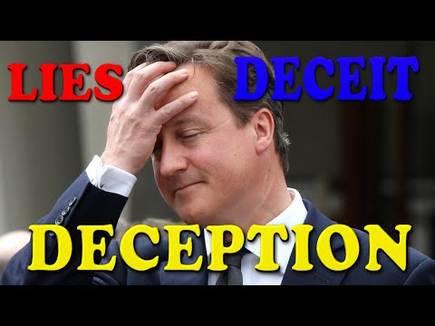 Lies, Deceit and Deception of David Cameron at Redeem's Festival of Life London 2015