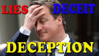 Lies, Deceit and Deception of David Cameron at Redeem