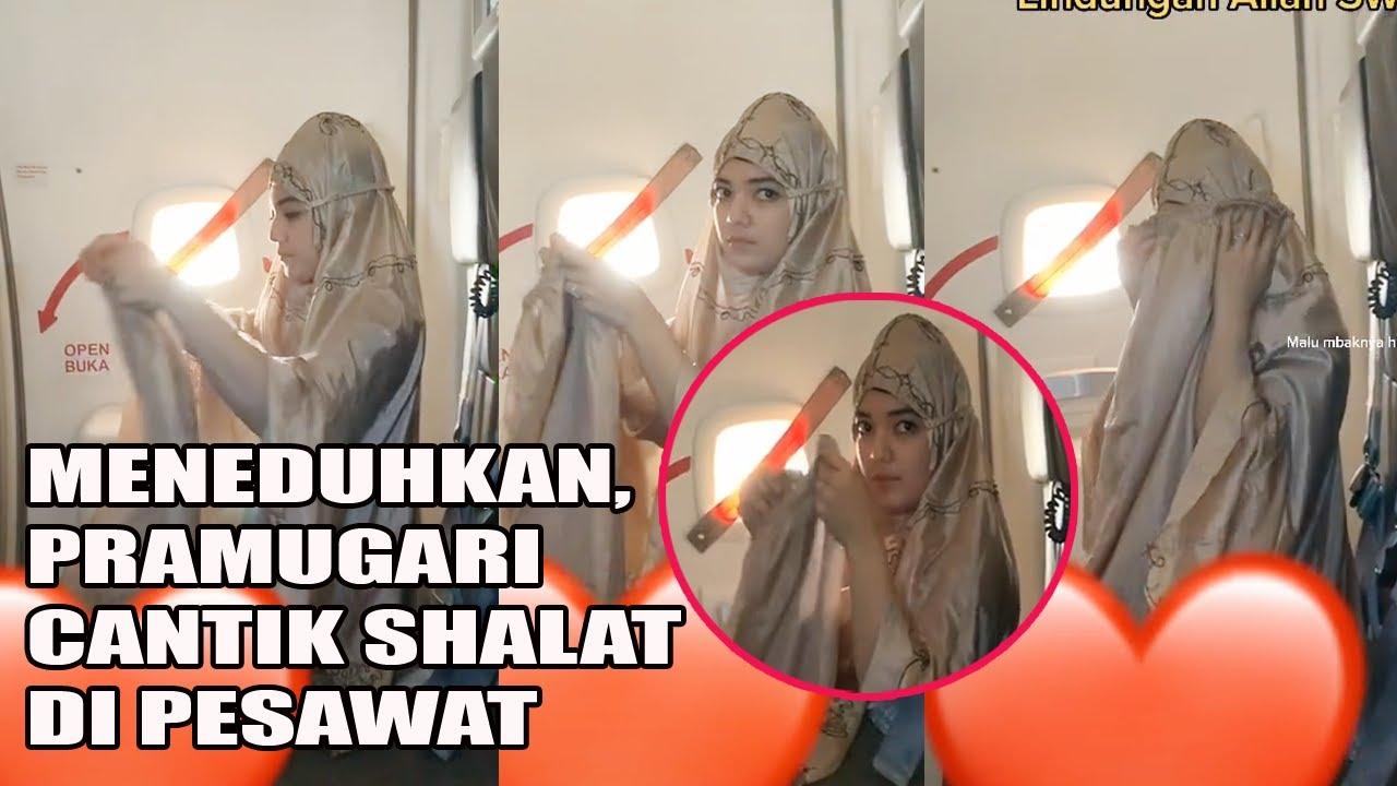 Viral...!!! Pramugari Cantik Tetap Shalat Meskipun Sibuk Kerja Bikin Netizen Ingin Menikahinya.