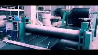 Порезка конвейерной ленты вдоль(Раббер компани выполняет работы по нарезке конвейерной ленты вдоль на специализированном оборудовании., 2014-10-21T13:11:57.000Z)