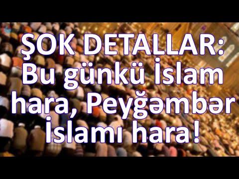 ŞOK DETALLAR: Bu günkü İslam hara, Peyğəmbər İslamı hara!