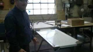 Heavy Duty, Fold Down, Stainless Steel Work Table