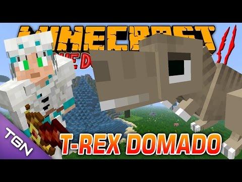 Minecraft Parque dos Dinossauros II :: Ep 27 :: T-REX DOMADO