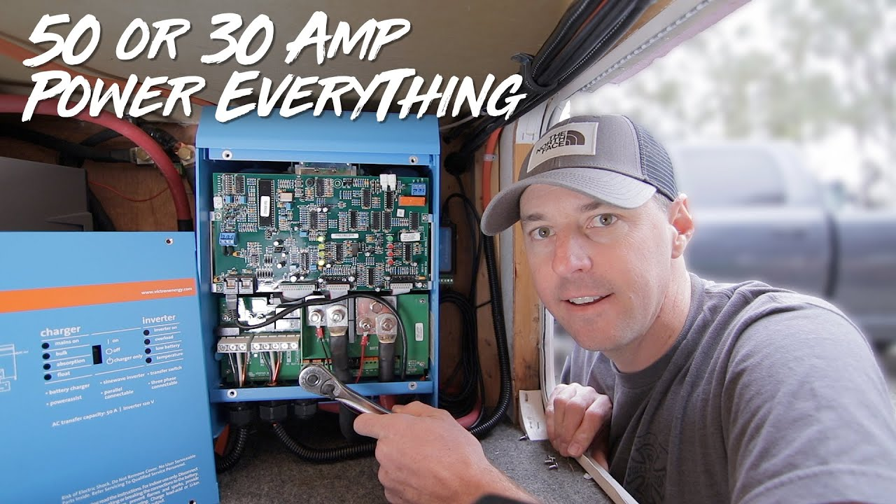 RV Inverter Setup! How To Power It All! 50 Amp and 30 Amp. - YouTubeYouTube