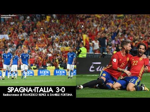 SPAGNA-ITALIA 3-0 - Radiocronaca di Francesco Repice & Daniele Fortuna (2/9/2017) da Rai Radio 1