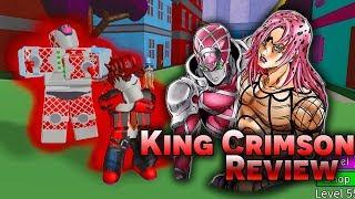 """Roblox l Review Stand """"KING CRIMSON"""" l'un des jeux Stand les plus chers (JoJoBloX)"""