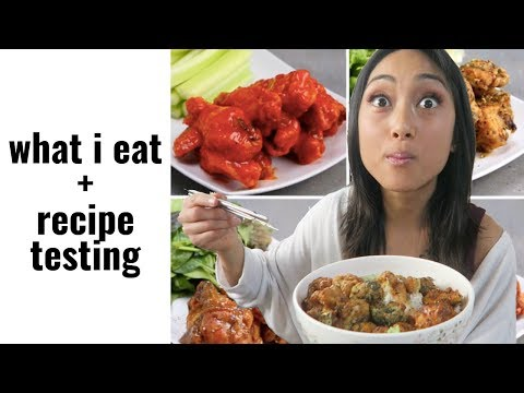 """veganizing-""""tasty""""-recipe:-chicken-wings-4-ways-//-what-i-eat-in-a-day"""