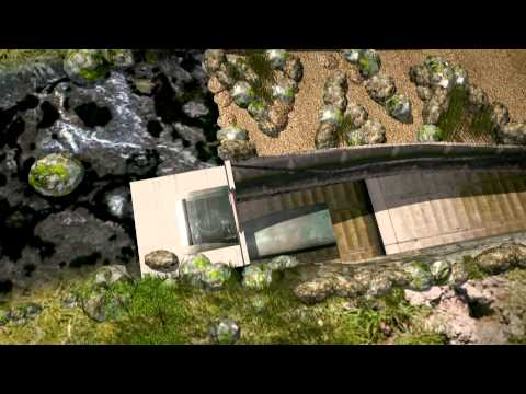 Computer Animation of the Shaft Power Plant: a new concept for ecological hydropower