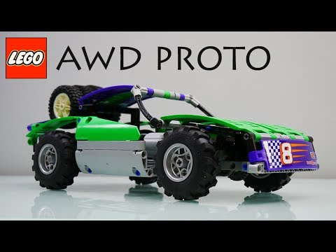 lego technic awd prototype buggy motor buwizz and snow. Black Bedroom Furniture Sets. Home Design Ideas
