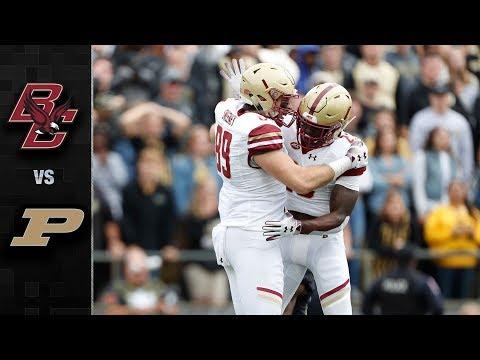 Boston College vs. Purdue Football Highlights (2018)