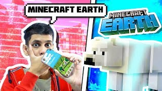 PLAYING THE NEW MINECRAFT EARTH GAME 🌎  REAL LIFE VERSION || FINESTLY HINDI ANDROID