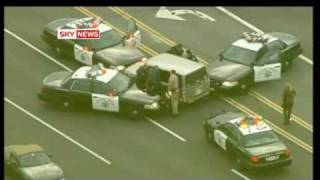 Good Friday 2009 Major police car chase in Orange County, California