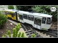 Gartenbahn - Fahrt mit selbstgebauter Straßenbahn + andere Loks