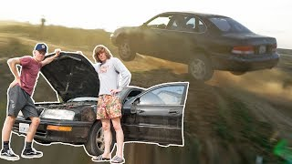 DESTROYING HIS NEW CAR! *COPS CALLED*