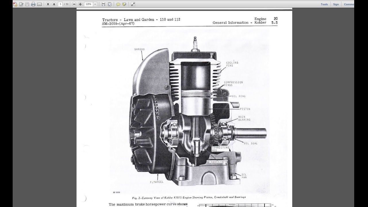 hight resolution of kohler k181 s 8hp and k161 s 6hp engine cutaway kohler youtubekohler k181 wiring diagram