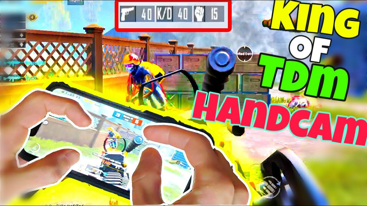 AM I HACKER ?! KING of TDM playing with HANDCAM ! Pubg Mobile TDM 40 KILLS +