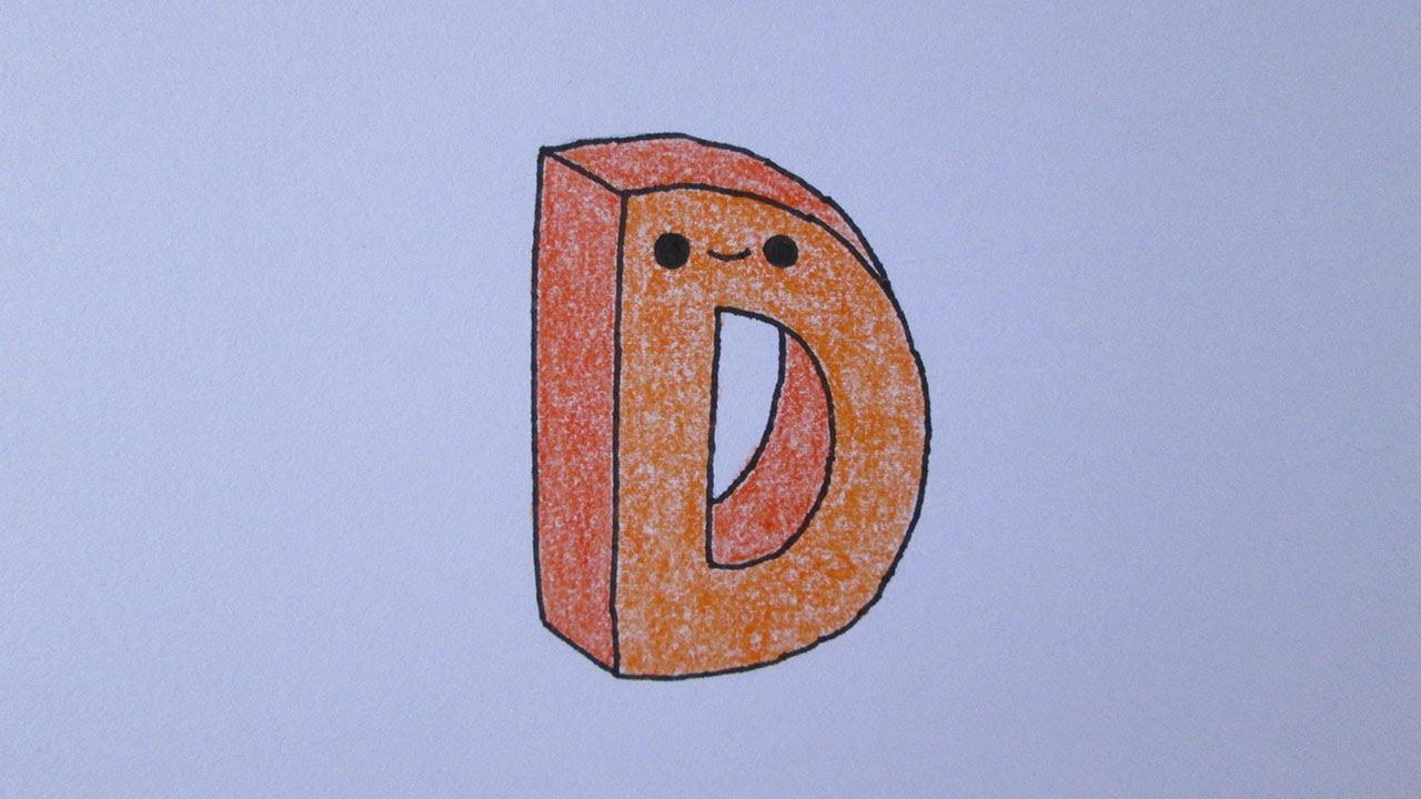 C mo dibujar la letra d youtube - Letras para dibujar ...