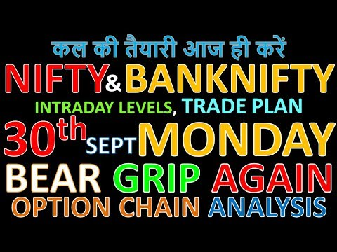 Bank Nifty & Nifty tomorrow 30th September 2019 Daily Chart Analysis SIMPLE ANALYSIS POWERFUL RESULT
