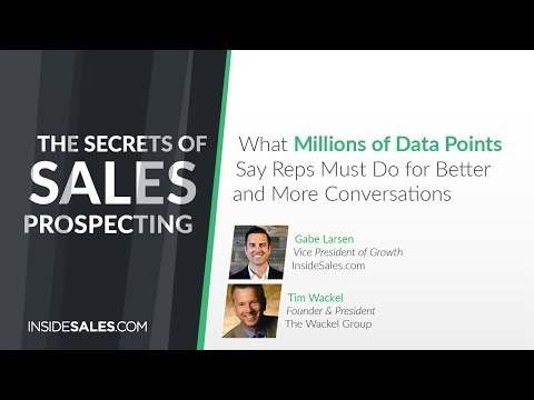 WEBINAR // The Secrets of Sales Prospecting