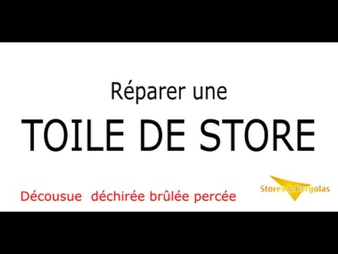 comment reparer une toile de store banne youtube. Black Bedroom Furniture Sets. Home Design Ideas
