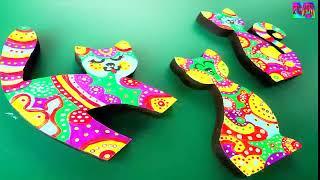 como pintar gatos decorativos en madera -  DIY