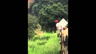 En video quedó registrado el alud que sepultó a dos personas en Amagá