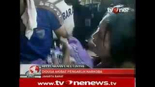 Novi Amelia Bugil saat Tabrak 7 Orang di Jl Ketapang