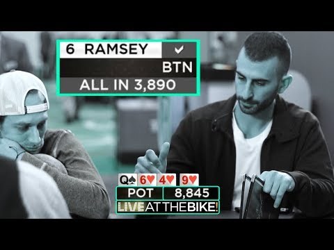 Tough Spot With KK. Another Huge Pot In The Ante Game ♠ Live at the Bike!