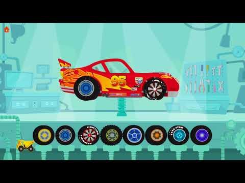 การ์ตูน ไดโนเสาร์ขับรถยก เกมส์ประกอบรถแข่ง สร้างเสริมจินตนาการเด็ก Cartoon for kids
