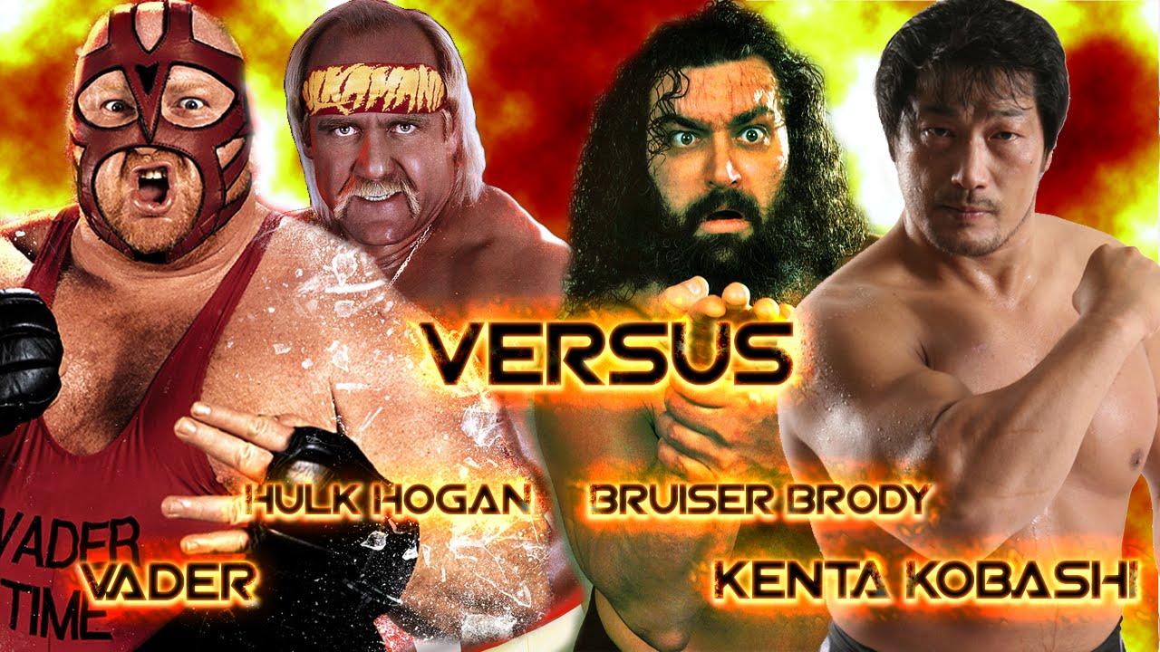 Showdown 64 Sims Vader vs Hulk Hogan vs Bruiser Brody vs Kenta Kobashi