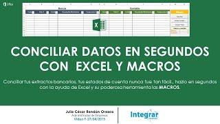 CONCILIAR DATOS EN SEGUNDOS CON EXCEL Y MACROS