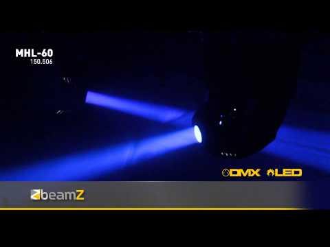 BeamZ MHL-60 12-Channel Moving Head Spot 60W DMX150.506