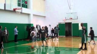 Celtics practice Ray Allen Paul Pierce Rajon Rondo Marquis Daniels.flv